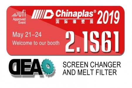 2019 Guangzhou Chinaplas booth number 2.1S61